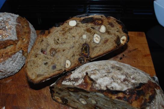 Hazelnut and Date Loaf